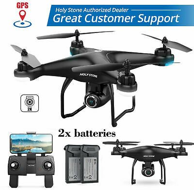 2K HD Camera Holy Stone HS120D FPV Drone GPS RC Selfie Quadcopter with 2 Battery 5060602692596