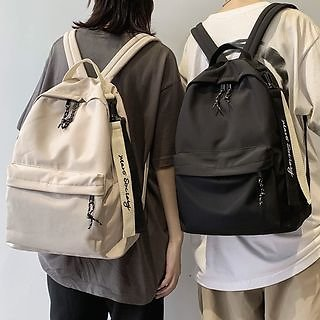 EAVALURE Lettering Lightweight Backpack | YesStyle