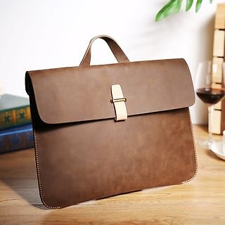 BagBuzz Faux Leather Briefcase | YesStyle