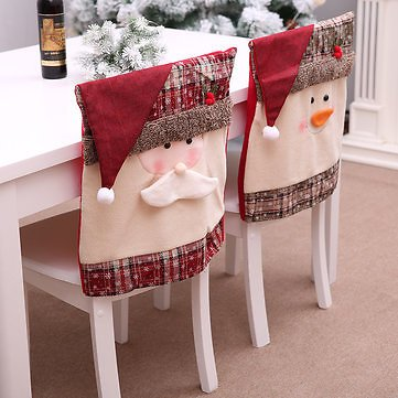 Santa Claus Embroidered Chair Back Cover for Christmas Kitchen Dinner Chair Covers DecorationsFestival Gifts & Party SuppliesfromHome and Gardenon Banggood.com