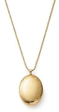 Bloomingdale's 14K Yellow Gold Oval Swirl Locket Necklace, 22