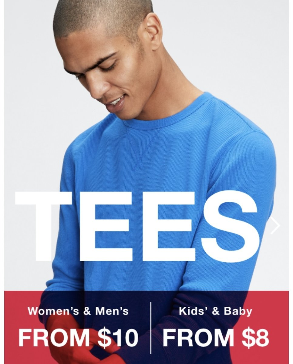 $8 & Up Tees - Gap