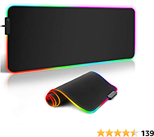 RGB Gaming Mouse Pad, ARCHEER LED Soft Extra Extended Large Mouse Pad, Anti-Slip Rubber Base, Computer Keyboard Mouse Mat - 31.5 X 11.8Inch(800x300mm)