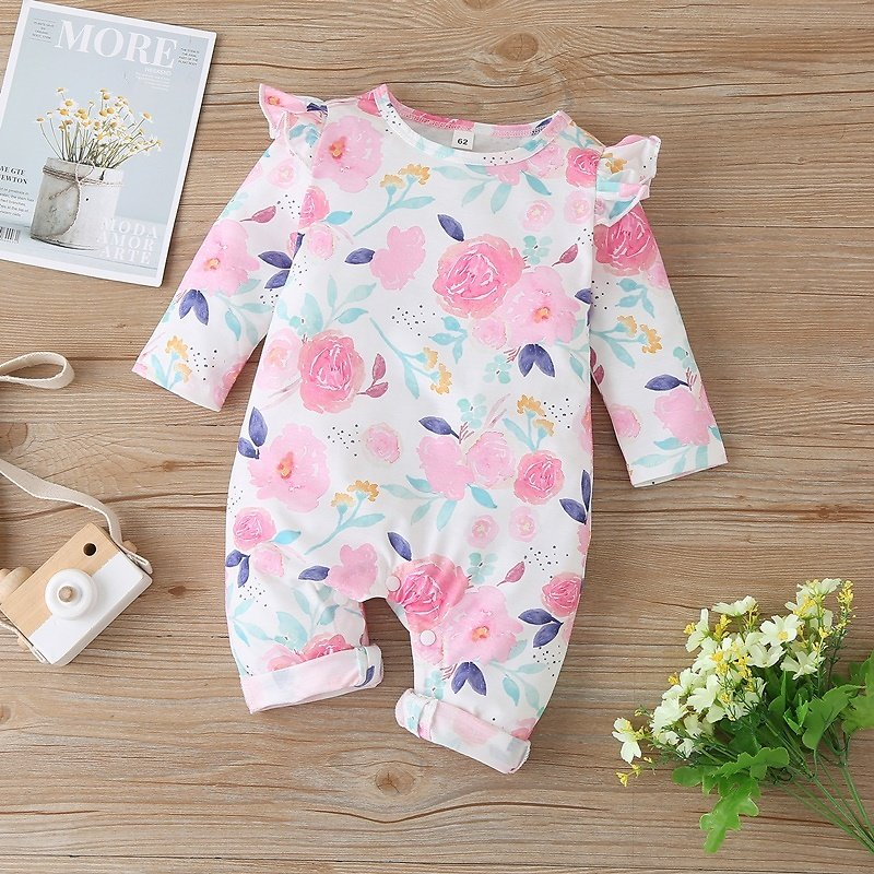 Baby Floral Ruffled Jumpsuit