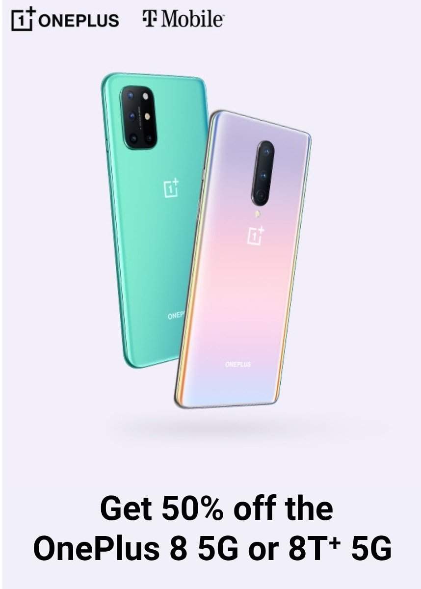 Get 50% Off The OnePlus 8 5G or 8T⁺ 5G