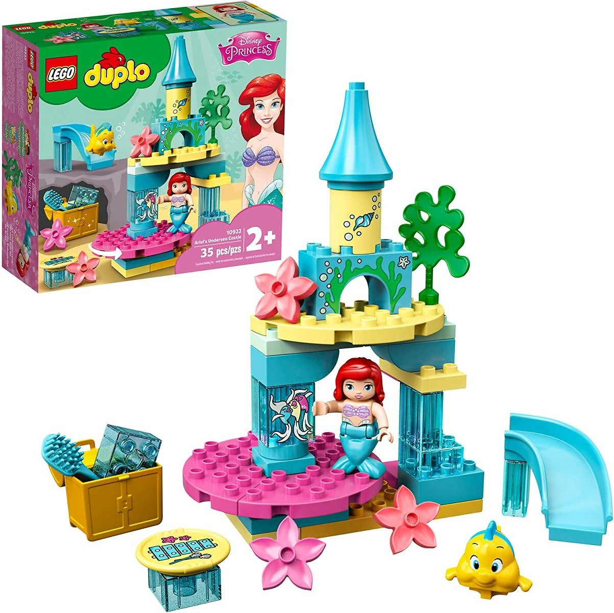 LEGO DUPLO Disney Ariel's Undersea Castle 10922, New 2020 (35 Pieces)