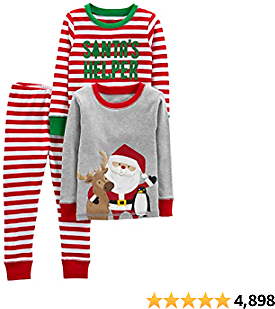 Simple Joys By Carter's Baby, Little Kid, and Toddler 3-Piece Snug-Fit Cotton Christmas Pajama Set