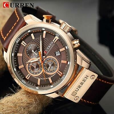 New Mens CURREN Sports Wristwatches Top Brand Luxury Fashion Waterproof Chronogr
