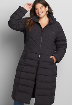 Maxi Hooded Puffer Coat | Lane Bryant