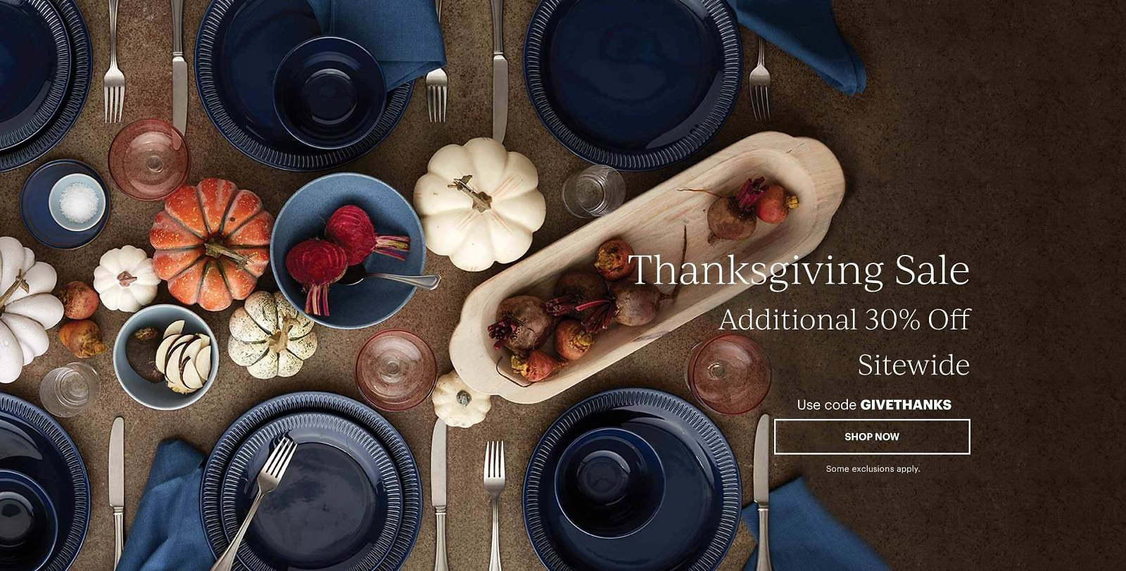 Up to 80% Off + Extra 30% Off Thanksgiving Sale
