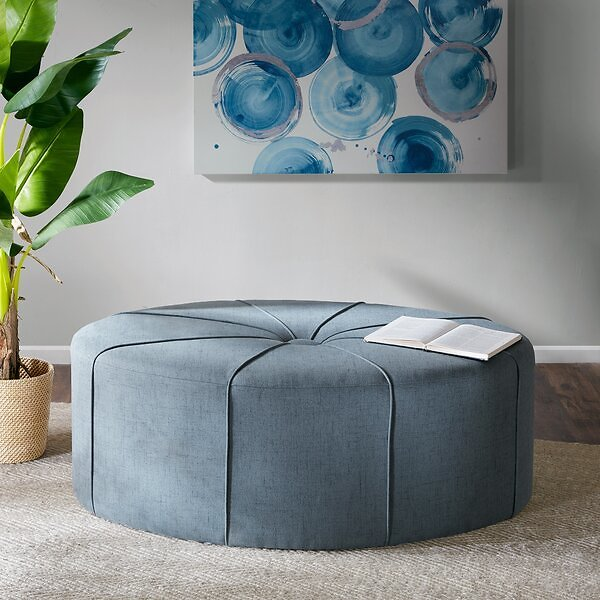 SALE 30% OFF ON Telly Oval Tufted Cocktail Ottoman