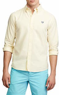 Chaps Men's Go Untucked Stretch Oxford Shirt