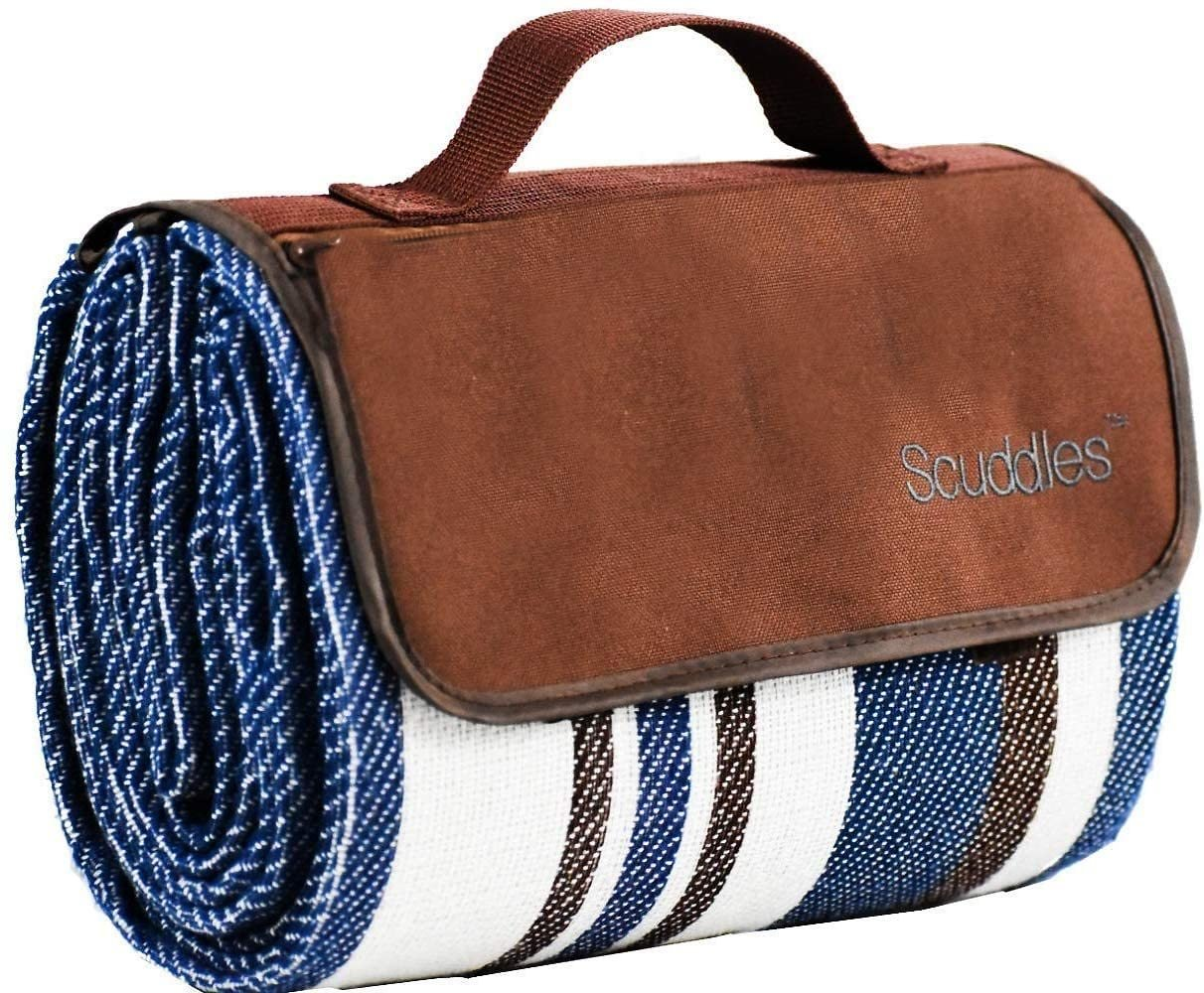 Picnic & Outdoor Blanket Dual Layers for Outdoor Water-Resistant Handy Mat Tote