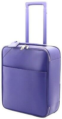 Louis Vuitton Purple Figue Epi Leather Pegase 45 Rolling Luggage Carry-On 861878