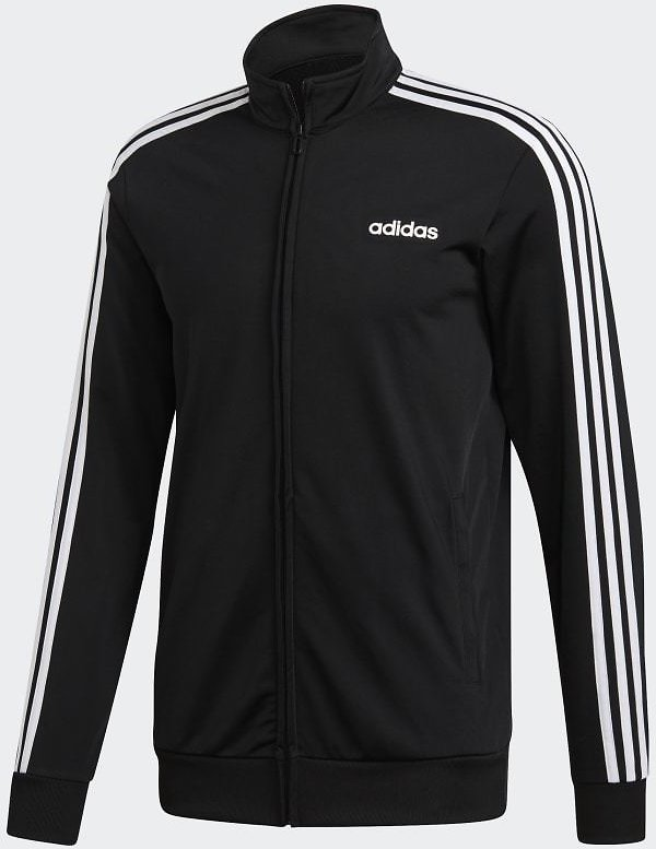 Adidas Essentials 3-Stripes Tricot Track Top - Black | Adidas US