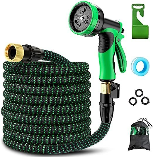 Retround Best Expandable Garden Hose Leakproof Lightweight No-Kinks Flexibility - Extra Strength with 3/4 Inch 9 Function Spray