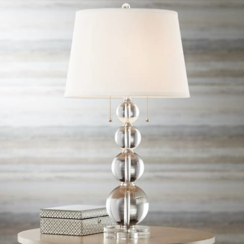 Vienna Full Spectrum Stacked Crystal Spheres Table Lamp - #60198 | Lamps Plus