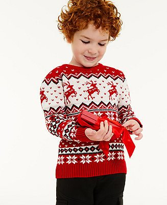 Charter Club Toddler Boys Reindeer Sweater, Created for Macy's & Reviews - Sweaters - Women
