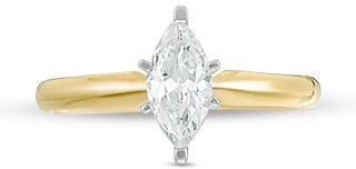 1 CT. Certified Marquise Diamond Solitaire Engagement Ring in 14K Gold (I/I2)|Zales