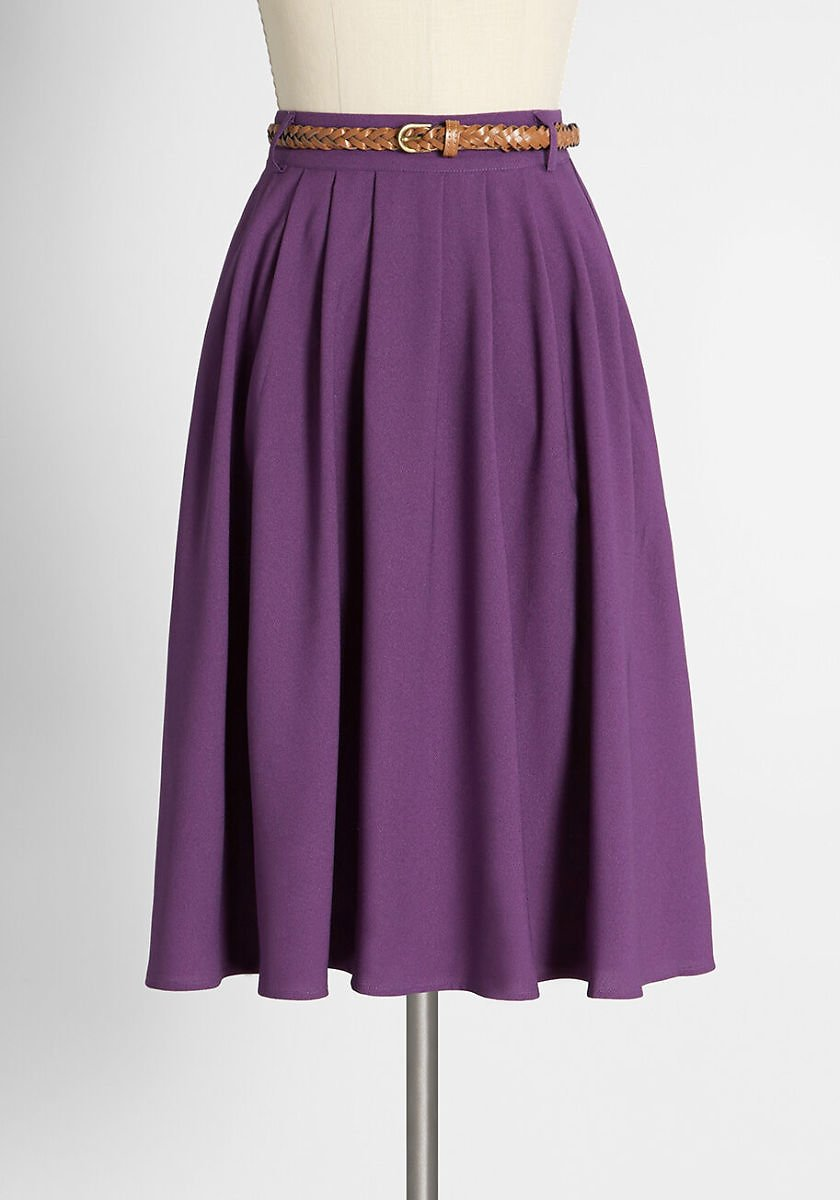 Orchid Bloom Swing Skirt