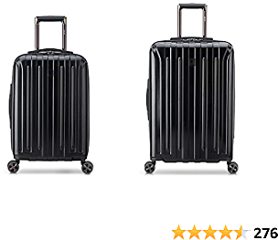EXTRA 62% OFF DELSEY Paris Titanium DLX Hardside Luggage with Spinner Wheels, Black, 2-Piece Set (21/25)