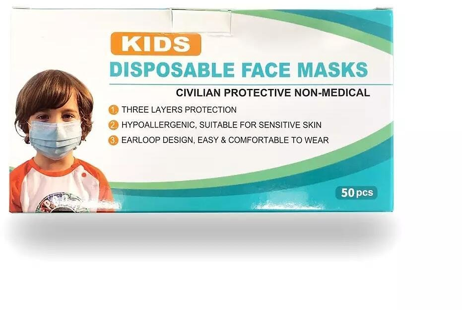 68% Off For Kid's 3-PLY Disposable Face Mask