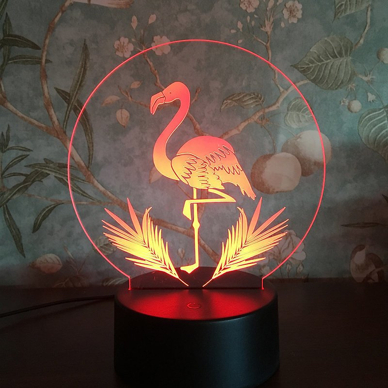 Flamingo 3D LED Night Lights USB Powered Bedside Lamp Gift Home Decor