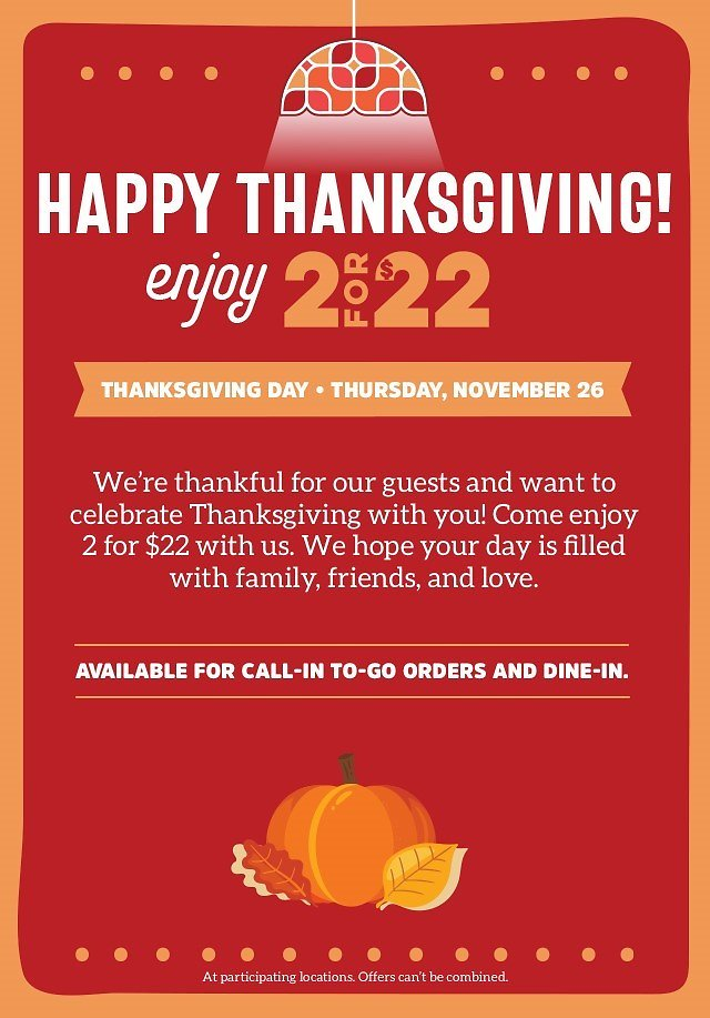Celebrate with 2 Meals & 1 App, Just $22! - Ruby Tuesday