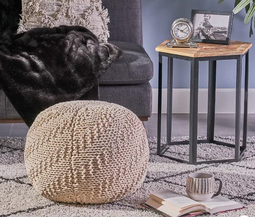 Alwes Knitted Pouf - Christopher Knight Home