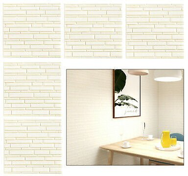 10x Foam Bricks 3D Wall Panel Tile Peel and Stick Wallpaper for Home Decor White