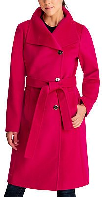 Michael Kors Asymmetrical Belted Coat, Created for Macy's & Reviews - Coats - Women