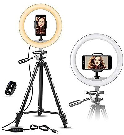 Up to 50% Off Ubeesize Cell Phone Ring Lights and Tripods