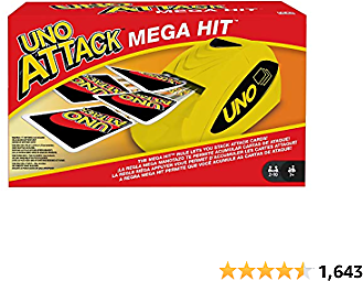 UNO: Attack Mega Hit Card Game with Card Shooter, Great for Kid, Adult or Family Game Night, 7 Years and Older [Amazon Exclusive]