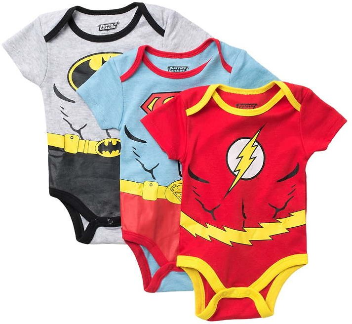 HAPPY THREADS | Justice League 3-Pack Bodysuits | Nordstrom Rack