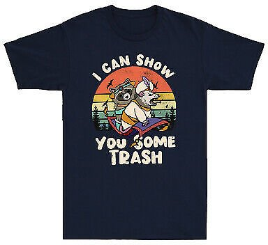 I Can Show You Some Trash T Shirt Funny Raccoon Possum Lover Gift Men's Tee Top