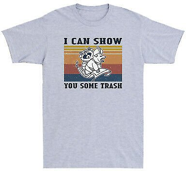 Raccoon and Possum I Can Show You Some Trash Funny Vintage Men's T Shirt Cotton
