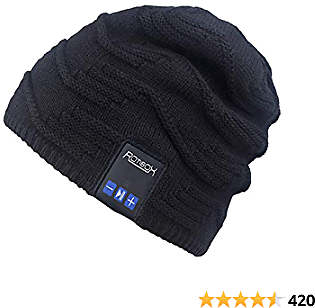 Mydeal Wireless Bluetooth Beanie Hat Music Knitted Cap with Headphone Headset Earphone Stereo Speakers and Mic