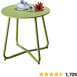 $20 Grand Patio Steel Patio Side Table, Weather Resistant Outdoor Round End Table