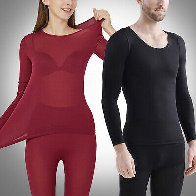 Women Men Stretch Thermal Underwear Long Johns Thermo Ultra-thin Lingerie Set