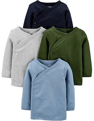 Carter's Baby Boys 4-Pack Side-Snap Cotton Shirts & Reviews - Shirts & Tops - Kids