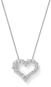 Bloomingdale's Diamond Heart Pendant Necklace in 14K White Gold, 0.25-1.0 Ct. T.w. - 100% Exclusive Jewelry & Accessories - Bloomingdale's