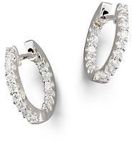 Bloomingdale's Diamond Inside Out Hoop Earrings in 14K White Gold, .30 Ct. T.w. Jewelry & Accessories - Bloomingdale's