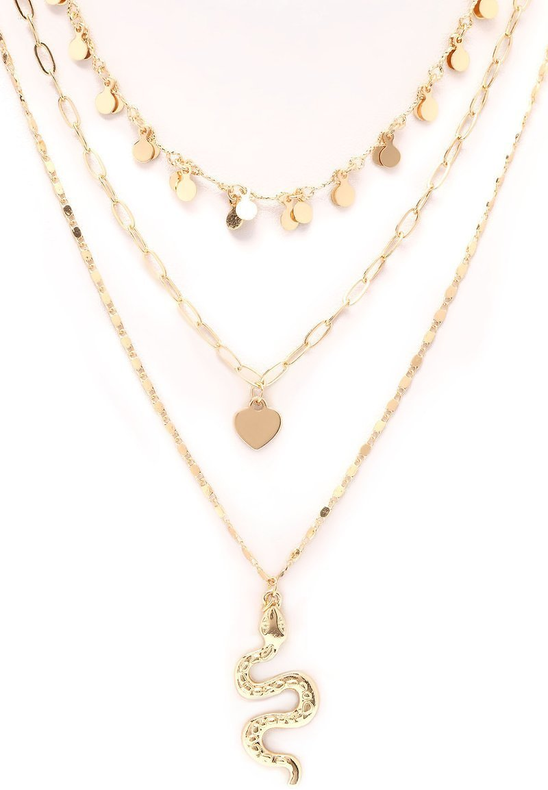What Did You Say Layered Necklace - Gold