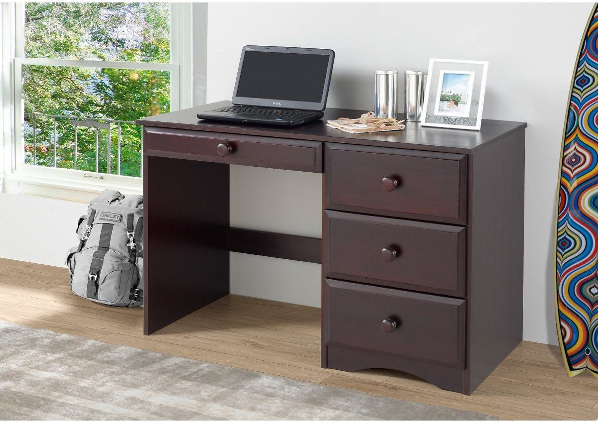 Camaflexi Kids Writing Desk with Four Drawers, Multiple Colors