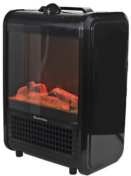 Comfort Zone Mini Portable Electric Fireplace Heater