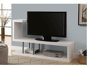 Monarch Tv Stand White For TVs Up To 47