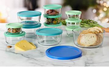 Anchor Hocking 24pc Food Storage Glass Set with SnugFit™ Multicolor Lids
