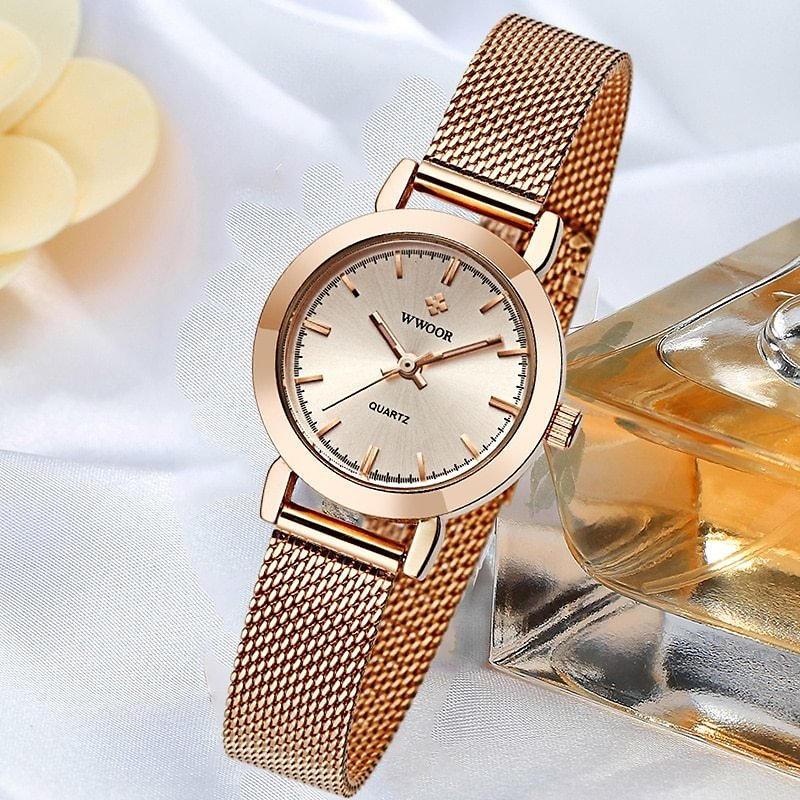 US $8.79 92% OFF|WWOOR Famous Brand Watch For Women Top Luxury Rose Gold Women Bracelet Watch Ladies Fashion Dress Quartz Wrist Watch Reloj Mujer|Women's Watches| - AliExpress