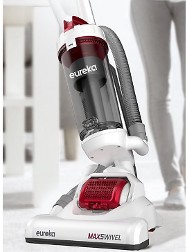 Ultra-Lightweight Upright Vacuum Cleaner with Swivel Steering, NEU150, Red