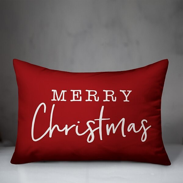 Sale 16% OFF ON Crowl Merry Christmas Lumbar Pillow